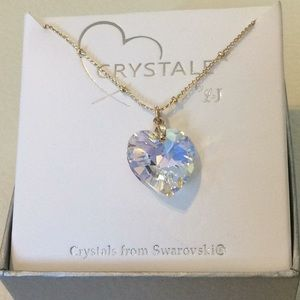 "Swarovski Crystal pendant necklace 16"""